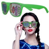 Green Novelty Custom Sunglasses-12 Pack