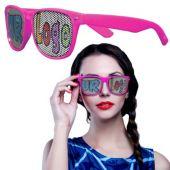 Custom Pink Wayfarer Billboard Sunglasses