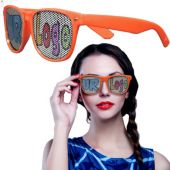 Orange Novelty Custom Sunglasses-12 Pack