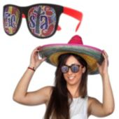Fiesta Red Neon Billboard Sunglasses