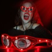 LED Red Eyes Novelty Sunglasses