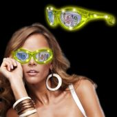 Yellow LED Novelty Custom Sunglasses
