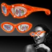 Custom Orange LED Billboard Sunglasses