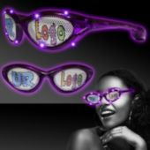 Custom Purple LED Billboard Sunglasses