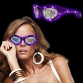 Purple LED and Light-Up Novelty Custom Sunglasses
