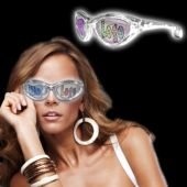 White LED Novelty Custom Sunglasses