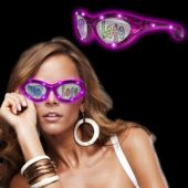 Pink LED Novelty Sunglasses