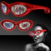 Custom Red LED Billboard Sunglasses