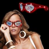 Red LED Novelty Sunglasses