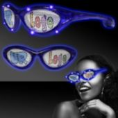 Custom Blue LED Billboard Sunglasses