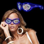 Blue LED and Light-Up Party Sunglasses