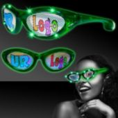 Custom Green LED Billboard Sunglasses
