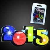 Multi Color Light Up 2015 Blinky Pin