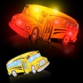 Flashing School Bus LED Blinkies - 12 Pack