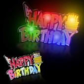 LED Happy Birthday Blinky-12 Pack