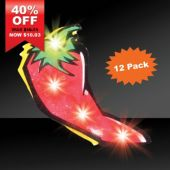 LED Chili Pepper Blinky-12 pack