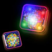 Flashing Disco Ball LED Blinkies - 12 Pack