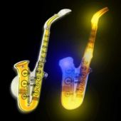 Flashing Saxophone LED Blinkies - 12 Pack