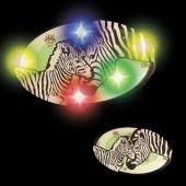 Flashing Zebras LED Blinkies - 12 Pack