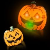 Flashing Pumpkin LED Blinkies - 12 Pack