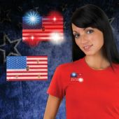LED USA Flag Blinky-12 Pack