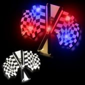 Flashing Checkered Flag LED Blinkies - 12 Pack