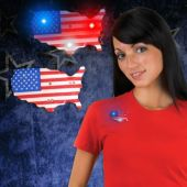 LED USA Flag Map Blinky-12 Pack