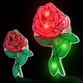 Flashing Red Rose LED Blinkies - 12 Pack