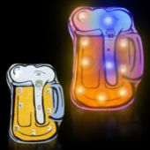 Flashing Beer Mug LED Blinkies - 12 Pack