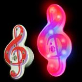 Flashing Treble Clef LED Blinkies - 12 Pack