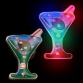 Flashing Martini Glass LED Blinkies - 12 Pack
