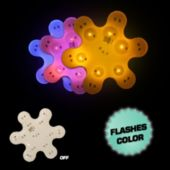Flashing Snowflake LED Blinkies - 12 Pack