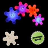 Flashing Snowflake Color Changing LED Blinkies - 12 Pack