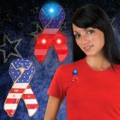 LED USA Ribbon Blinky-12 Pack