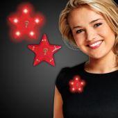 Red LED Star Blinky-12 Pack