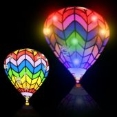Flashing Hot Air Balloon LED Blinkies - 12 Pack