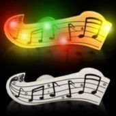 Flashing Multi-Color Musical Notes LED Blinkies - 12 Pack