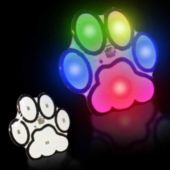 Flashing Paw Print LED Blinkies - 12 Pack
