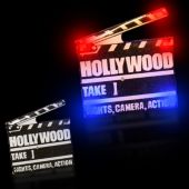 Flashing Hollywood Clapboard LED Blinkies - 12 Pack