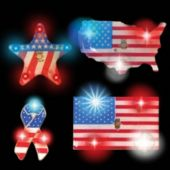 Patriotic Assortment LED Blinkies - 12 Pack