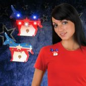 LED Democratic Party Blinky-12 Pack