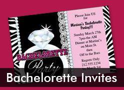 Personalized Bachelorette Party Invitations