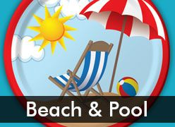 Beach & Pool Theme Party Supplies for Summer