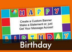 Birthday Custom Banners
