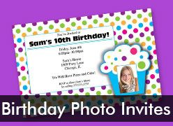 Personalized Birthday Photo Invitations