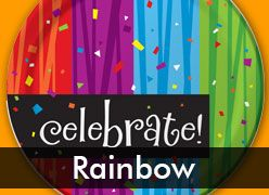 Rainbow Celebration Birthday Party Theme