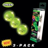 Night Flyer Green Golf Balls Retail 3 - Pack