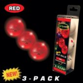 Night Flyer Red Golf Balls Retail 3 - Pack