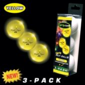 Night Flyer Yellow Golf Balls Retail 3 - Pack