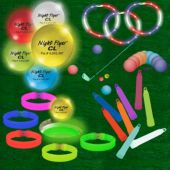 Night Golf Putting/Chipping Kit For 24-36 Players